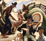 A Thomas Hart Benton painting, Spencer Art Museum, Lawrence